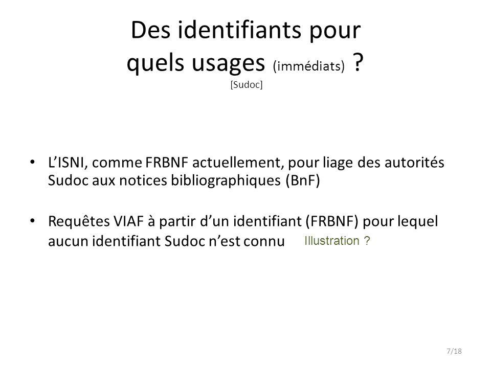 Des identifiants pour quels usages (immédiats) [Sudoc]